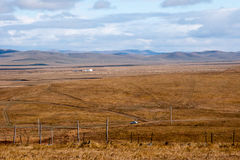 Grassland autumn scenery in China. The hulunbuir prairie autumn scenery of China Stock Images