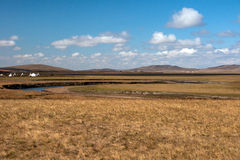 Grassland autumn scenery in China. The hulunbuir prairie autumn scenery of China Royalty Free Stock Photography