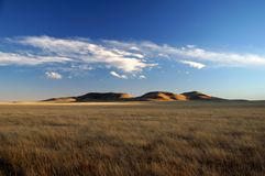 Grassland and Buttes New Mexico Stock Photos