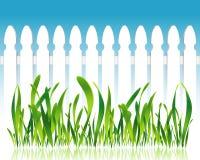 Grassland fence Stock Photo