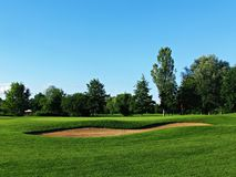 Grassland, Golf Course, Field, Lawn stock photo