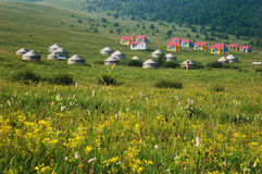 Grassland Landscapes And Yurt Royalty Free Stock Images