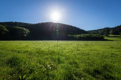 Grassland, Meadow, Sky, Pasture Royalty Free Stock Photo