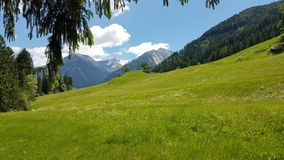 Grassland, Mountainous Landforms, Nature, Mountain Range stock image