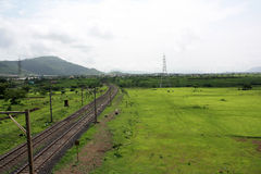 Grassland Railroad Stock Images