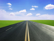 Grassland and road Royalty Free Stock Image