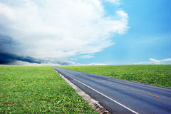 Grassland and road Stock Photography