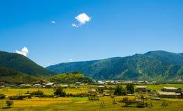 Grassland of Sangke. Sangke grassland is in Gannan, Gansu province in China Royalty Free Stock Image
