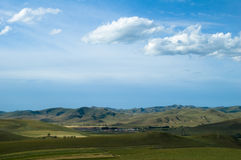 Grassland scenery. China grassland beautiful scenery blue sky and white clouds Stock Photography