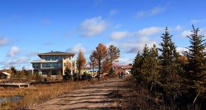 The grassland scenery in autumn Stock Photos