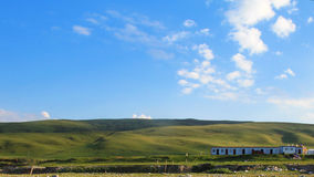 Grassland and sky Stock Images
