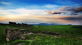 Grassland stone forest Stock Photo