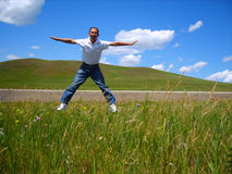 Grassland tourist fun Royalty Free Stock Images