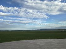 the grassland of zhengxianbai banner in xilin guolle league, Inner mongolia stock photo