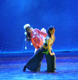 The grasslands ballet-The dance drama The legend of the Condor Heroes. In December 2, 2014, a large Chinese dance drama the legend of the Condor Heroes for the Stock Image