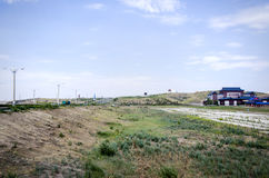Grasslands, highways and temples. Temples in Hulun Buir Grassland Stock Image