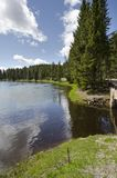 Grasslands, lakes and rivers in Yellowstone National Park. In Wyoming royalty free stock photo
