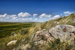 Grasslands National Park. Landscape featuring Grasslands National Park, which is located in southern Saskatchewan Royalty Free Stock Photo