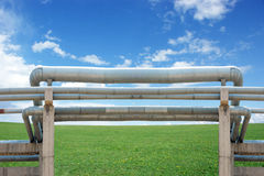 Grasslands and natural gas pipelines Stock Photography