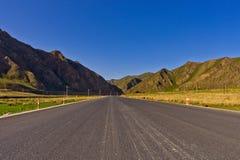 Grasslands road Stock Images
