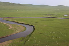 Grasslands, valleys, rivers, Stock Photo