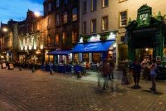Grassmarket的餐馆在爱丁堡 库存图片
