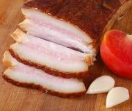 Grasso affumicato della carne di maiale Immagini Stock Libere da Diritti
