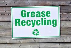 Grasso che ricicla segno Fotografie Stock Libere da Diritti