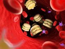 grasso nella circolazione sanguigna royalty illustrazione gratis