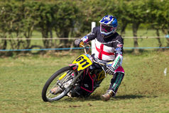 Grasstrack rider Stock Photography