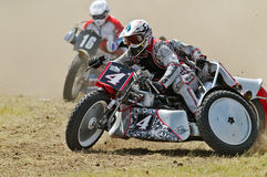 Grasstrack sidecar Royalty Free Stock Photography