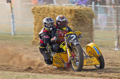 Grasstrack sidecar racing Royalty Free Stock Photos