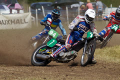 Grasstrack solo rider Royalty Free Stock Image