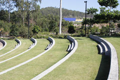 Grassy amphitheatre Royalty Free Stock Images