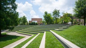 Grassy Amphitheatre. A grassy Amphitheatre with trees Royalty Free Stock Image