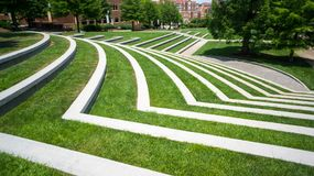 Grassy Amphitheatre. A grassy Amphitheatre with trees on the e Royalty Free Stock Images