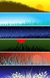 Grassy banners Royalty Free Stock Image
