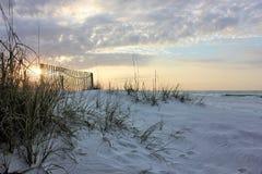 Grassy beach. Destin Floridas amazing sunrise Stock Photo