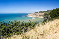 Grassy beach overlook in California Stock Photos