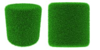 Grassy cylinder object Royalty Free Stock Photos