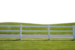 Grassy Fence Shortened Foreground Stock Photography