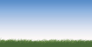 Grassy Field. A vector illustration of a grassy field on a sunny day with blue skies Stock Images