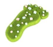 Grassy footprint Stock Photo