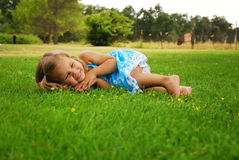 Grassy Girl Royalty Free Stock Photo