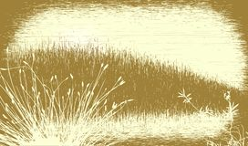 Grassy grunge. Editable vector illustration of a grassy landscape with grunge. All elements as separate objects Royalty Free Stock Image