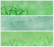 Grassy Grunge Banners or Headers Royalty Free Stock Images