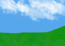 Grassy hill Stock Image