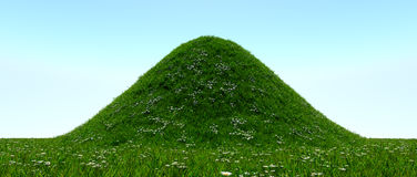 Grassy hill Royalty Free Stock Image