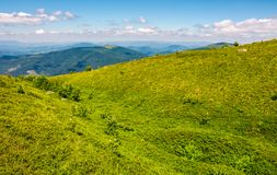 Grassy meadow of mountain ridge Stock Photo