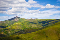 Grassy mountains landscape Royalty Free Stock Image